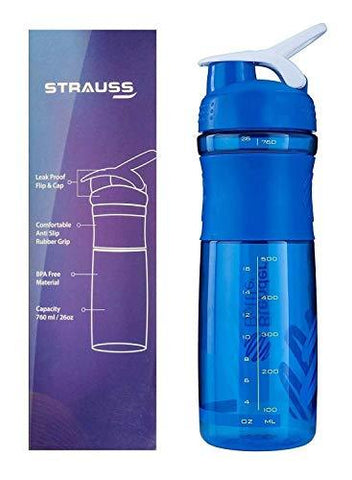 Strauss Blender Shaker Bottle 760ml-Sports-STRAUSS-Helmetdon