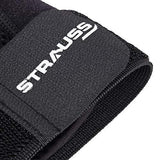 Strauss Thumb Support with Wrist Wrap, Free Size, (Black)-Sports-STRAUSS-Helmetdon