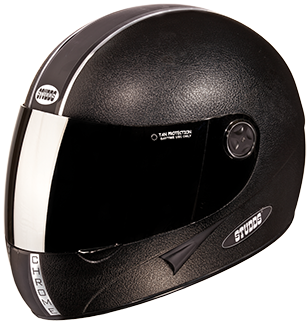 Studds Chrome Full Face Helmet with Mirror Visor-Helmets-Studds-XL (Head Size 60 cm)-Black-Helmetdon