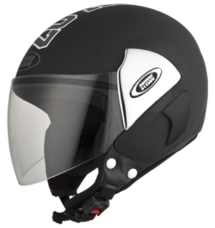 Studds Cub 07 Decor Open Face Helmet-Helmets-Studds-XL (Head Size 60 cm)-Black-Helmetdon