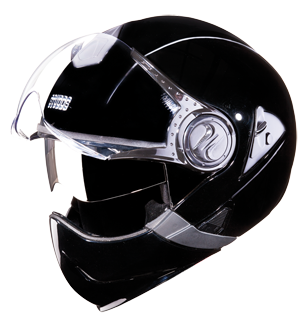 Studds Downtown Full Face Flip Off Helmet-Helmets-Studds-XL (Head Size 60 cm)-Black-Helmetdon