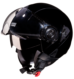 Studds Downtown Open Face Helmet Black, White +Colours-Helmets-Studds-XL (Head Size 60 cm)-Black-Helmetdon