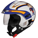 Studds Marshall Kids Helmet for Boys and Girls-Helmets-Studds-D1 WHITE N1(BOYS)-Helmetdon