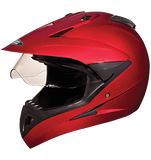 Studds Motocross Plain Full Face Helmet with Plain Visor-Helmets-Studds-XL (Head Size 60 cm)-Cherry Red-Helmetdon