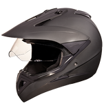 Studds Motocross Plain Full Face Helmet with Plain Visor-Helmets-Studds-XL (Head Size 60 cm)-Matt Black-Helmetdon