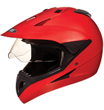 Studds Motocross Plain Full Face Helmet with Plain Visor-Helmets-Studds-XL (Head Size 60 cm)-Matt Red-Helmetdon