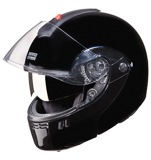 Studds Ninja 3G Full Face Helmet with Double Visor Flipup-Helmets-Studds-XL (Head Size 60 cm)-Black-Helmetdon