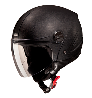 Studds Track Open Face Helmet-Helmets-Studds-XL (Head Size 60 cm)-Black with plain black-Helmetdon