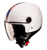 Studds Track Open Face Helmet-Helmets-Studds-XL (Head Size 60 cm)-White with American flag-Helmetdon