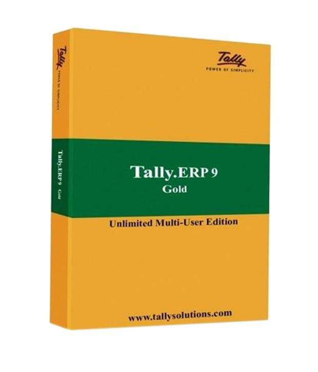 Tally ERP 9 Gold GST Ready (Multi User) PC Software ( GST Invoice with Input Tax Credit )