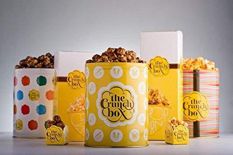 The Crunch Box Holy Smokes Wasabi Popcorn Tin (100g)-Grocery-The Crunch Box-Helmetdon