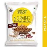 The Green Snack Co. 6 Grain Stix Smoky Bbq Snacks (25 g) - Set of 6-Grocery-The Green Snack Co.-Helmetdon
