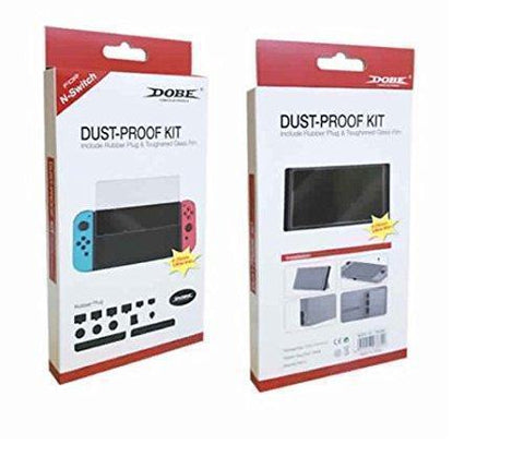 TMG Dust-Proof Kit and Tempered Glass Screen Protector for Nintendo Switch Console-Video Games-Dobe-Helmetdon