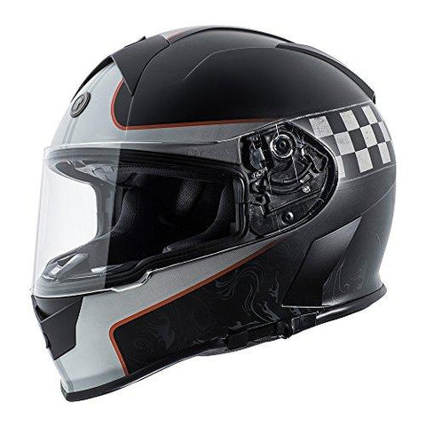 Torc T14 Champion Mako Full Face Helmet (Flat Orange with Graphic, XX-Large)-Automotive Parts and Accessories-TORC-Helmetdon