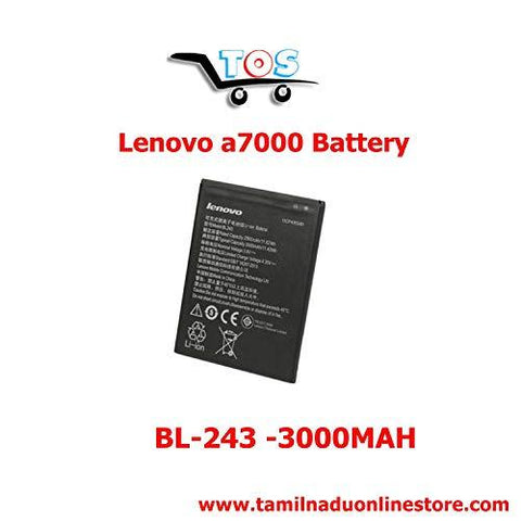 TOS - Compatible Battery for Lenovo A7000 K3 Note A7000 4g Mobile Battery BL-243-Wireless-TOS - Lenovo-Helmetdon