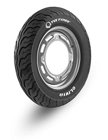 TVS Tyres OLIVIA 90/90-10 50J Tubeless Scooter Tyre, Rear-Automotive Parts and Accessories-TVS TYRES-Helmetdon