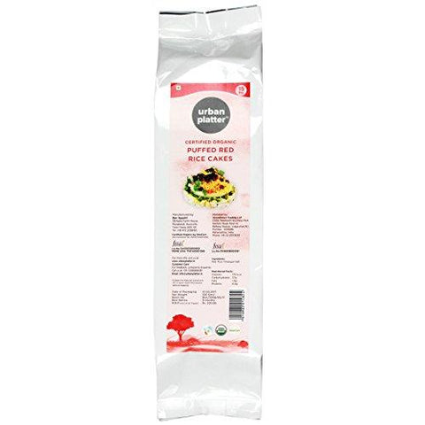 Urban Platter Organic Puffed Red Rice Cakes, 125g-Grocery-Urban Platter-Helmetdon