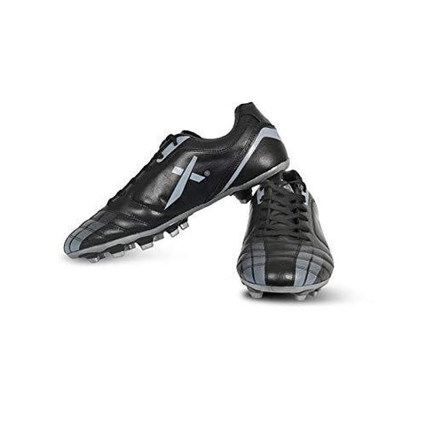 Vector X Speed Football Shoes (Black-Grey)-Sports-Vector X-Helmetdon