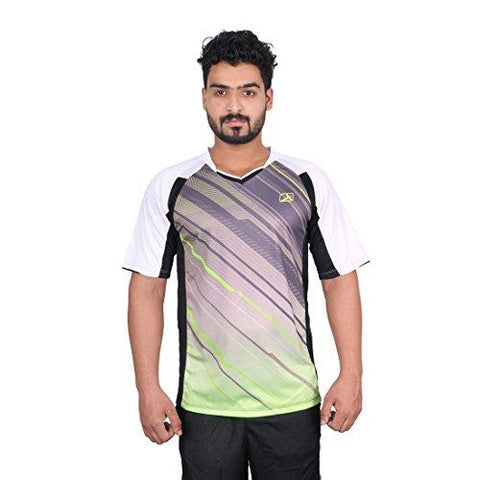 Vector X VRS-004 Sublimation T-Shirt (Black-White)-Sports-Vector X-Helmetdon