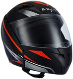 Vega Boolean Drift Full Face Helmet (Dull Black and Red, M)-Automotive Parts and Accessories-Vega-Helmetdon