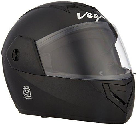 Vega Cliff CLF-AR-LK_L Air Full Face Helmet (Black, L)-Automotive Parts and Accessories-Vega-Helmetdon