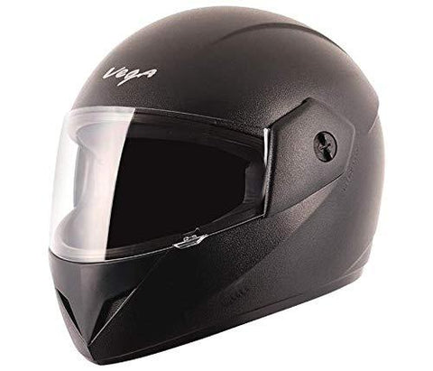 Vega Cliff CLF-LK-L Full Face Helmet (Black, L)-Automotive Parts and Accessories-Vega-Helmetdon