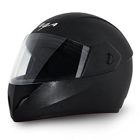 Vega Cliff Full Face Helmet-Helmets-Vega-M (Head Size 57 to 59 cm)-Black-Helmetdon