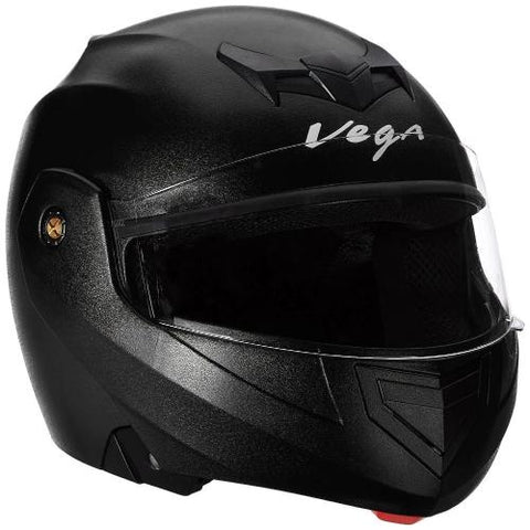 Vega Crux Flip-up Helmet Black-Helmets-Vega Crux-M (Head Size 57 to 59 cm)-Black-Helmetdon