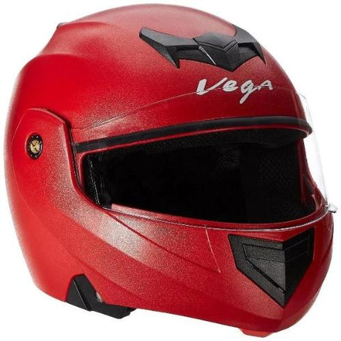 Vega Crux Flip-up Helmet Black-Helmets-Vega-M (Head Size 57 to 59 cm)-Red-Helmetdon