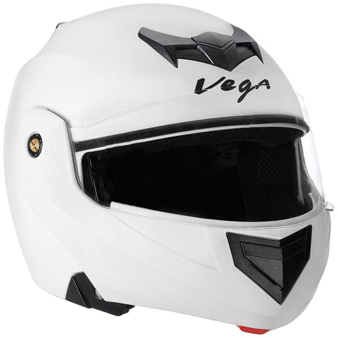 Vega Crux Flip-up Helmet White-Helmets-Vega-M (Head Size 57 to 59 cm)-White-Helmetdon