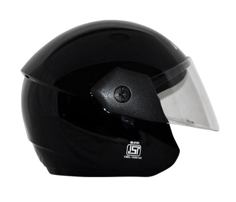 Vega Ridge Open Face Helmet-Helmets-Vega-M (Head Size 57 to 59 cm)-Black-Helmetdon