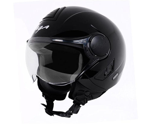 Vega Verve Open Face Helmet For Ladies-Helmets-Vega-S (Head Size 55 to 57 cm)-Black-Helmetdon