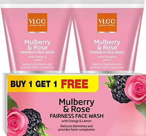 VLCC Mulberry and Rose Facewash 150ml B1G1-Beauty-VLCC-Helmetdon