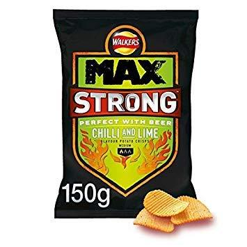 Walkers Max Strong Chilli & Lime 150g-Beauty-Walkers-Helmetdon