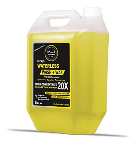 WaveX WWMC5K Hybrid Waterless Wash and Wax Mega Concentrate, 5 Litre Spray Wax-Automotive Parts and Accessories-WAVEX-Helmetdon