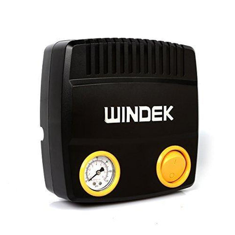 WINDEK C24B Car Tire Inflator/Tire Air Pump with Pressure Gauge and Adaptor Set (0PSI V 28LPM)-Automotive Parts and Accessories-Windek-Helmetdon
