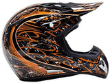 X-Large : Adult Off Road Helmet Goggles & Gloves Gear Combo - Orange Splatter ( XL )-Automotive Parts and Accessories-Typhoon Helmets-Helmetdon