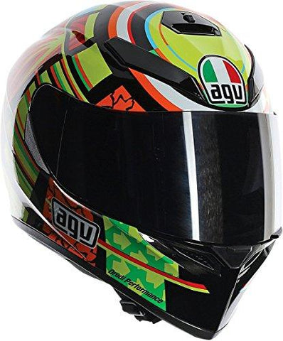 X-Large : AGV K3 SV Adult Elements Helmet Street Motorcycle Helmet - Yellow/Red/Black / X-Large-AGV-Helmetdon
