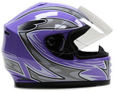 X-Large : Youth Helmet & Gloves Motorcycle Combo Full Face Purple ( XL )-Automotive Parts and Accessories-Typhoon Helmets-Helmetdon