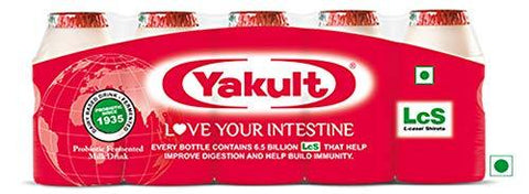 Yakult Probiotic Drink (Pack of 5)-Health and Beauty-Yakult-Helmetdon
