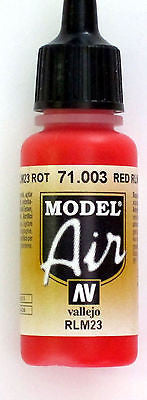 71003 Vallejo Model Airbrush Paint 17 ml Scarlet