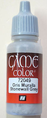 72049 Vallejo Game Color Paint: 17ml  Stonewall Grey