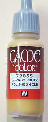 72055 Vallejo Game Color Paint: 17ml Polished Gold