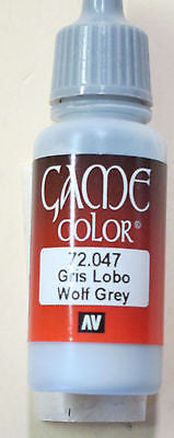 72047 Vallejo Game Color Paint: 17ml  Wolf Grey