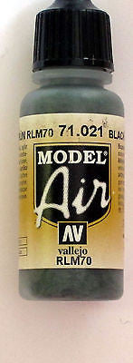 71021 Vallejo Model Airbrush Paint 17 ml Black Green