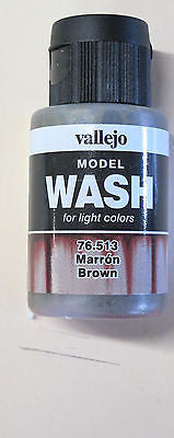 76513 Brown Vallejo Wash Paint: 35ml