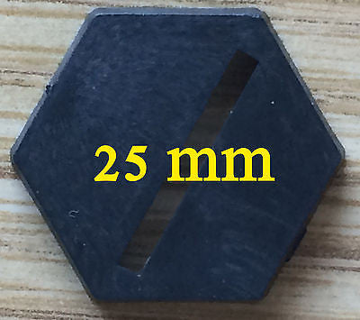 25mm Hex Bases - 25 count