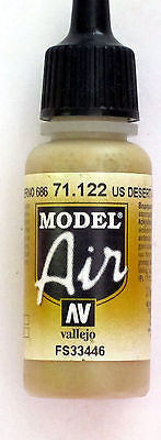 71122 Vallejo Model Airbrush Paint 17 ml Desert Tan