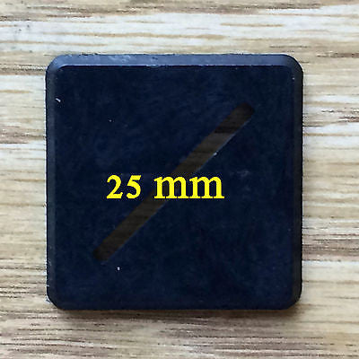 25mm Square Bases - 100 count
