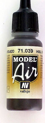 71039 Vallejo Model Airbrush Paint 17 ml Hull Red